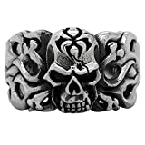 CloseoutWarehouse Inferno Maiden Skull Ring Sterling Silver 925 Size 12