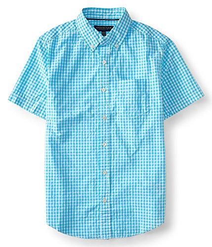 Aeropostale Seersucker Gingham Woven Shirt