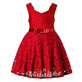 FKKFYY 2-12 Years Little Big Girls Princess Gowns Dresses For Wedding Party Holiday