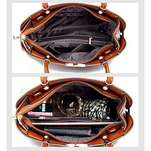 Blue Pu Donna Pezzi Tre Casual Diagonale Tracolla Borse Capacità borse Tracollaborsa Donna Da A Tracolla In borse Borsa Grande fFxnq