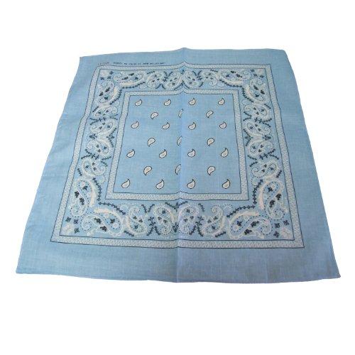 Paisley Cotton Bandana LT. Blue -