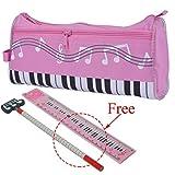 PUNK Waterproof Zipper Pen Bag Music Theme Pencil