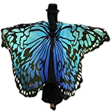 2018 New Womens Halloween Butterfly Wings Shawl Cape Scarf Fairy Poncho Costume Accessory for Christmas Gift Party Dressup (Blue)
