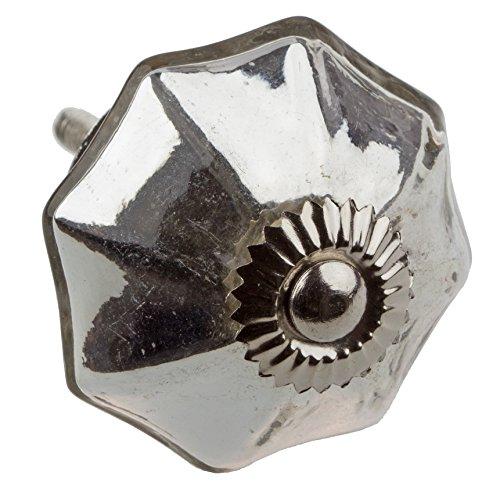 GlideRite Hardware 233520-M-10 2 inch Vintage Mercury Glass Cabinet Dresser Knobs 10 Pack