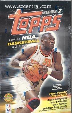 Card Basketball Box 2 Series - 1998/99 Topps Series 2 Jumbo Basketball Box (12 packs)