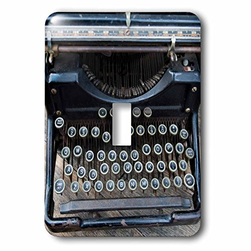(3dRose lsp_259791_1 Vintage Type Writer, Brooklyn, New York, Usa. Williamsburg Toggle Switch, Mixed)