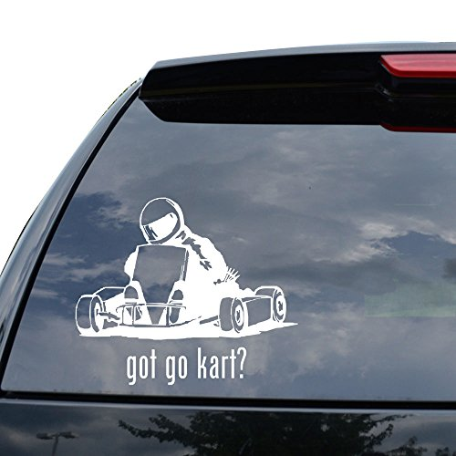 GOT GO KART RACING Decal Sticker Car Truck Motorcycle Window Ipad Laptop Wall Decor - Size (05 inch / 13 cm Wide) - Color (Matte WHITE)