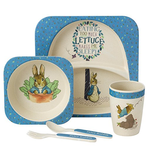 Beatrix Potter A27754 Peter Rabbit Organic Dinner Set ()