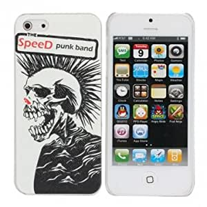 Rock Style Skeleton Head Leather Hard Back Cover Case For iPhone 5