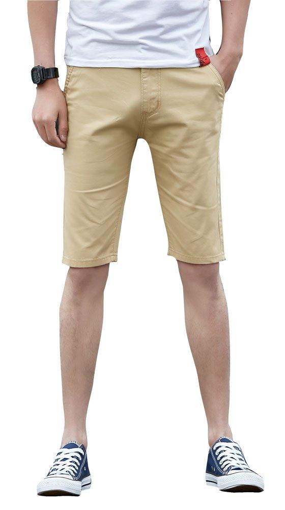 Plaid&Plain SHORTS メンズ B07DG3RSM7 34W|7507# Khaki 7507# Khaki 34W