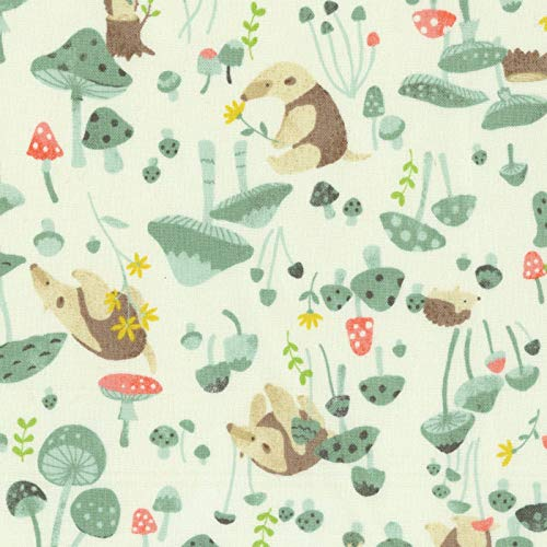 Natural Garden Anteater – Kokka Japan Cotton Sheeting Fabric