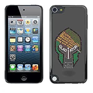 LECELL -- Funda protectora / Cubierta / Piel For Apple iPod Touch 5 -- Gladiator Typography Helmet --