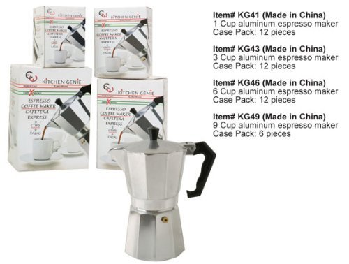 Euro-Home KG49 Gorgeous 9 Cup Espresso Maker, Multicolor