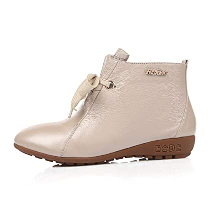 aaf7b34c3d533 Amazon.com: Hy Women's Casual Shoes,Fall/Winter Leather Comfort Lace ...