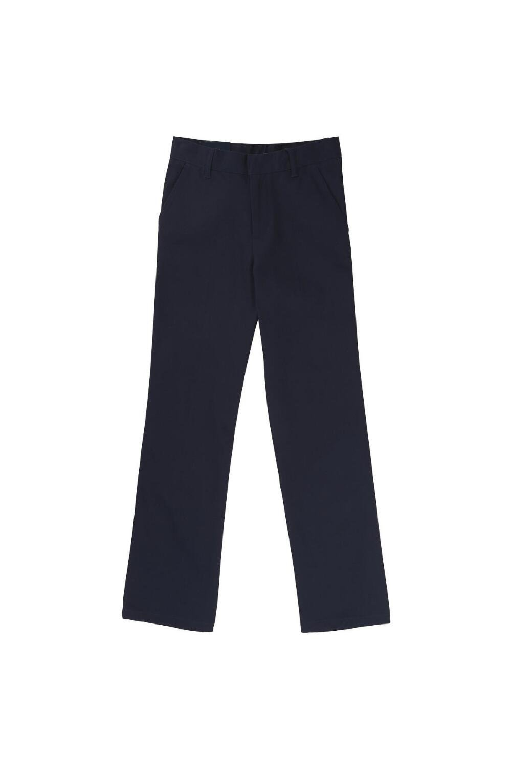 French Toast Little Boys' Flat Front Double Knee Pant, Navy, 6