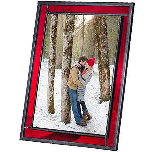 J Devlin Colored Easel Back Series - Stained Glass 4x6 Picture Frame Displays Horizontally or Vertically ()