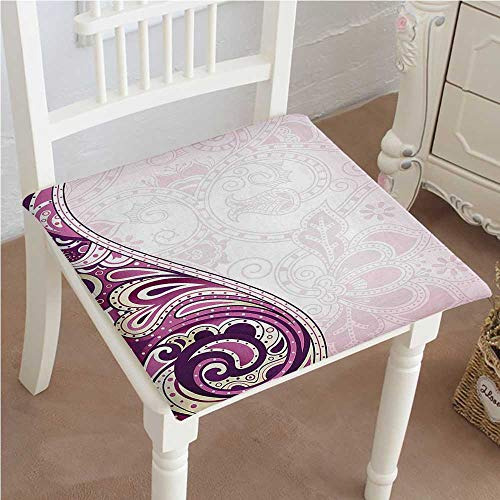 - Mikihome Indoor/Outdoor All Weather Chair Pads Swirled Curved Petals Motif Oriental Design Light Pink Fuchsia Plum Seat Cushions Garden Patio Home Chair Cushions 22