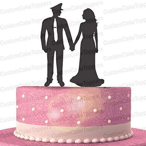 Amazon Policeman And Bride Wedding Cake Topper Police Officer Military Handmade