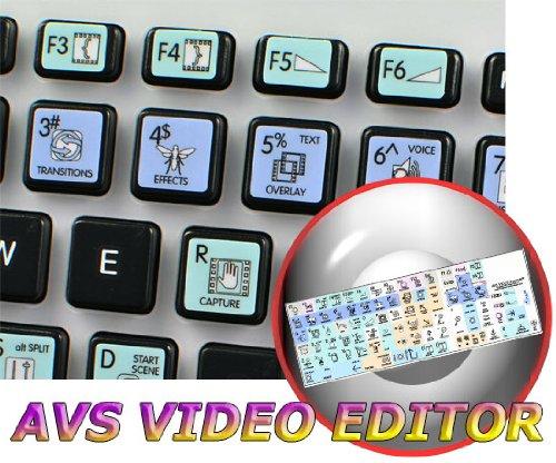 AVS VIDEO EDITOR GALAXY SERIES NEW KEYBOARD LABELS SHORTCUTS 12x12 SIZE