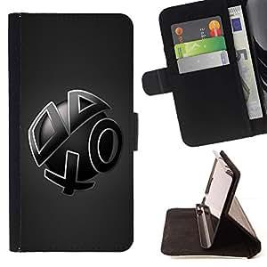 For Samsung Galaxy Note 4 IV Case , Formas abstractas- la tarjeta de Crédito Slots PU Funda de cuero Monedero caso cubierta de piel