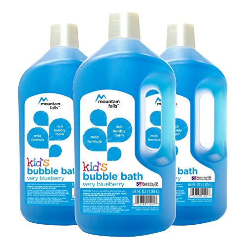 Mountain Falls Kid's Bubble Bath, Very Blueberry, 64 Fluid Ounce (Pack of - Childrens Bubble