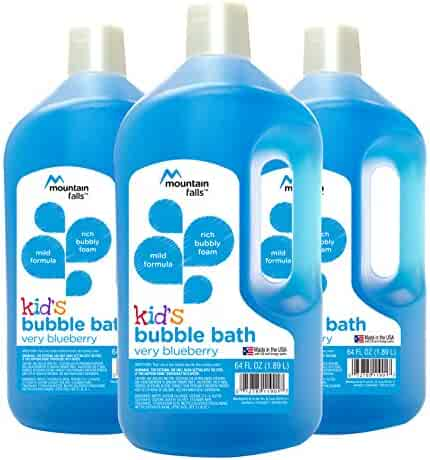 Mountain Falls Kid's Bubble Bath, Very Blueberry, 64 Fluid Ounce (Pack of 3)