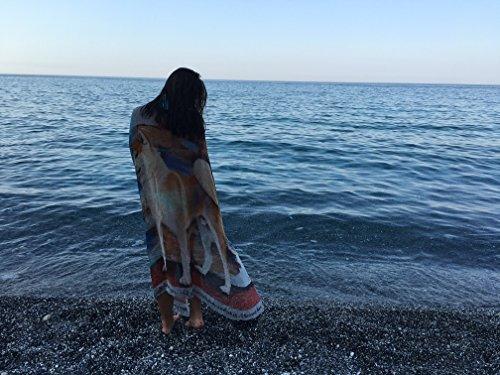 Gabriella Artioli - Foulard 100% pure voile de soie avec Akita