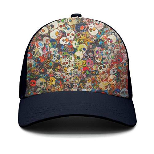 Taiyesybbq Casual Baseball Cap Colored Skull Pattern New Adj