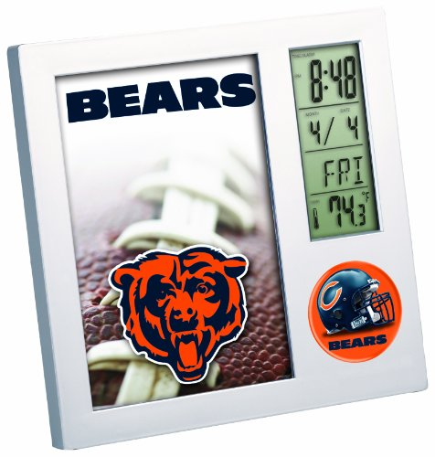 Clock Desk Bear (WinCraft NFL Chicago Bears Desk Clock)