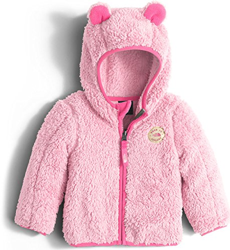 The North Face Infant Plushee Bear Hoodie Sweatshirt Baby Coy Pink Unisex Baby 18-24m (Baby North Face Sweatshirt)