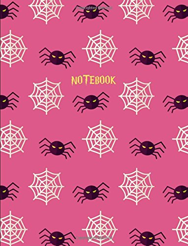 Notebook: Halloween Pink Spider Web Notebook for Girls (8.5 x 11)]()