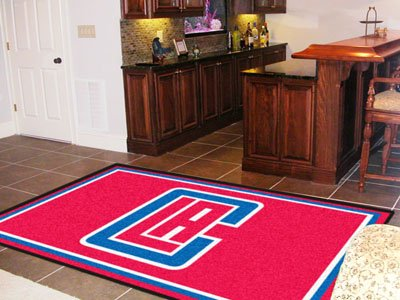 NBA - Los Angeles Clippers 5'x8' Rug-By BlueTECH by BlueTECH