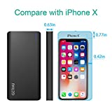 GETIHU Portable Charger 13000mAh Power Bank 2 USB Ports 4.8A Output High-Speed Charging External Battery Backup with Flashlight for iPhone 7 6s 6 Plus 5s iPad Tablet Samsung Mobile Phone Pack