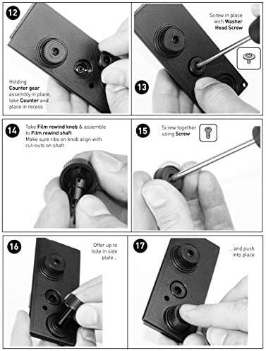 DEVMO DIY Lightnes Classic Retro Holga Lomo Recesky TLR Camera 35mm Film Twin Lens Reflex Kit 51DfLCXB4 2BL