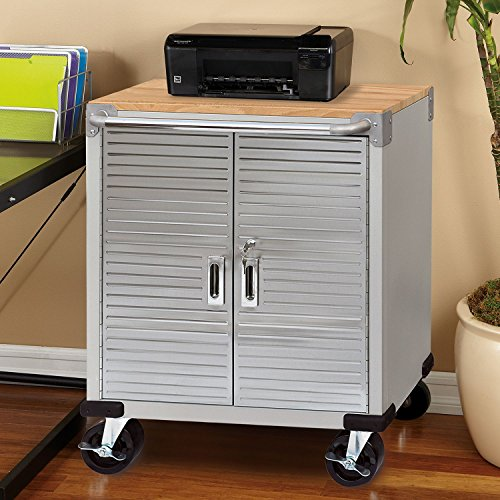 Door Security Cabinet - Seville Classics UltraHD Rolling Storage Cabinet