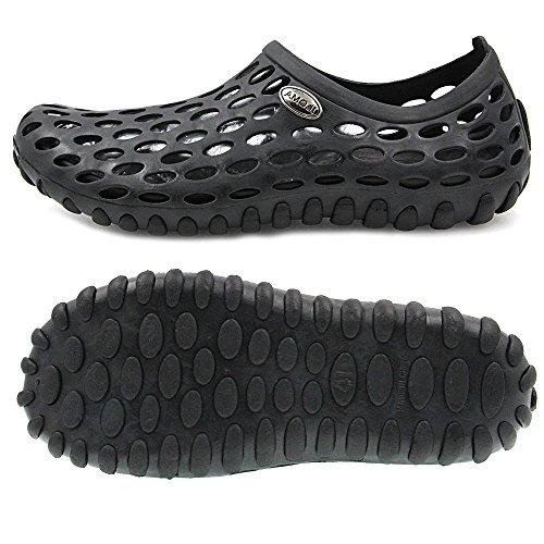 Amoji Unisex Waterschoenen Outdoor Klompen Sandalen Zwart