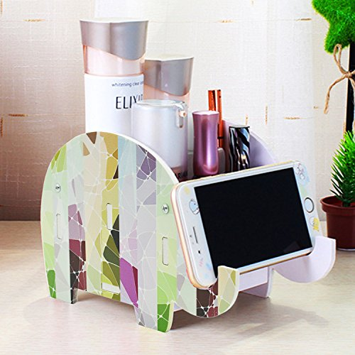 Desk Supplies Organizer, Mokani Creative Elephant Pencil Holder Multifunctional Office Accessories Desk Decoration with Cell Phone Stand Tablet Desk Bracket for iPad iPhone Smartphone and More ()