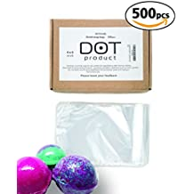 Polyolefin Heat Shrink Wrap Bags | nontoxic/odorless | 500pcs set | Perfect bath bomb shrink wrap or soap packaging| wrapping, bottle sealer, arts and crafts, homemaking or other small items (4''x6'')