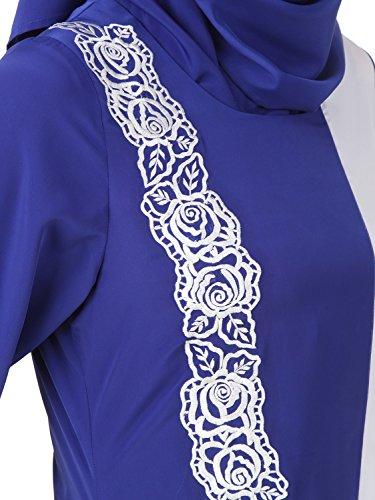 MyBatua grietas azul y negro informal y formal de estilo burka abaya AY-442