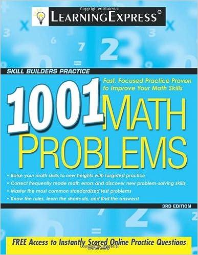 1001 Math Problems (1001 Series): LearningExpress LLC Editors ...