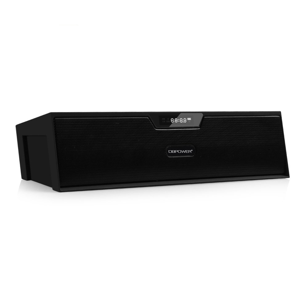 Bluetooth Stereo Lautsprecher, BX-100 LED Anzeige Tragbare Multifunktions Drahtlose Wecker Lautsprecher, Uhrenradio Fuer Smartphone und Anderen Bluetooth Geraeten (Schwarz) product image