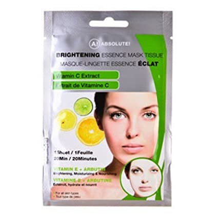Absolute New York brighte Ning Essence Máscara Facial – Vitamina C, 1er Pack (1