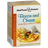 Healthwise Bacon and Cheese Flavored Omelet Mix (7 packets of .808 oz, net 5.655 oz) - High Protein Bacon and Cheese Flavored Omelete Mix
