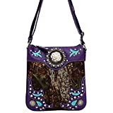 Top Purple Camo Purse Designer Vegan Leather Trim Crossbody Messenger TravelNut Essential Christmas Clearance Gift Idea Deal Under 30 Dollars Aunt Cousin Grandmother Sister Daughter Girl Teen 2017