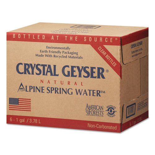 Crystal Geyser Pallet Of 48 Cases Of Alpine 100% Natural Spring Water, 1 Gallon Bottles, Bottled at The Source