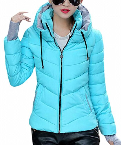 Hooded Jacket Thicken Blue Women Parka Coat Quilted today Outwear UK Down EwXITWxq1