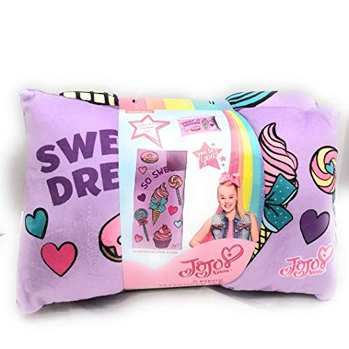 Nickelodeon JoJo Siwa 2 Piece Sleepover Set-Includes Sleeping Bag and Plush Pillow by Nickelodeon