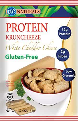 Kay's Naturals Protein Kruncheeze, White Cheddar Cheese, Gluten-Free, Low Carbs, Low Fat, Diabetes Friendly, All Natural Flavorings, 1.2 Ounce (Pack of 6)