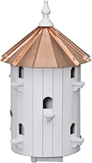 "product image for Saving Shepherd 10 Room Birdhouse - 30"" Copper Top Finch Bird Condo House Amish Handcrafted in Lancaster Pennsylvania USA"