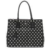 Prada Women's Galleria Grommet Detail Bag Black